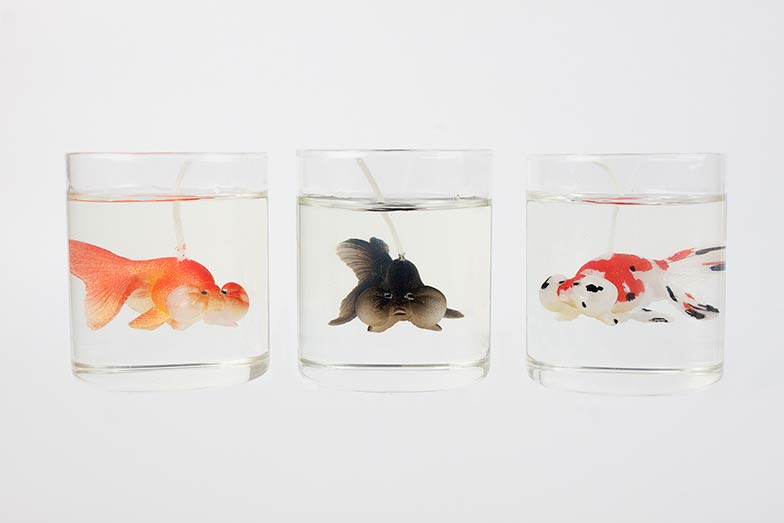 Bobble Eye Goldfish Jar Candle